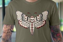 Death Head Moth Vector Design Product Image 3