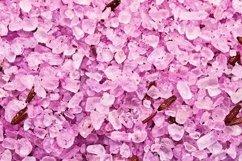 Pink sea salt background. SPA concept. Product Image 1
