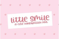 Little Smile - A Cute Hand-Written Font Product Image 1