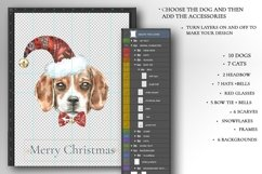 Christmas Animal Creator.Watercolor Dogs & Cats Product Image 6