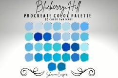 Shades of Blue Procreate Color Palette Product Image 1