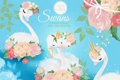 Peony Poem - Tea Time with swans & flowers Product Image 2
