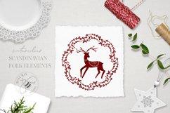 Nordic Christmas Clip Art Dala Horse Swedish Design Product Image 3