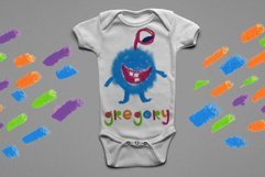 """Little monster"" bitmap color font Product Image 6"