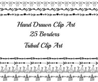 Tribal border clipart Product Image 2