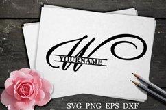 W Split monogram SVG Split letter svg Monogram font Product Image 1