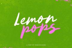 Lemon Pops Hand Drawn Script Font Product Image 1