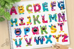Girl Monsters Alphabet Clipart, ABC Letters - Vector Clipart Product Image 1