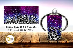 Sublimation Sippy Cup Tumbler leopard with purple foil Product Image 2