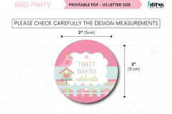"""Bird party cupcakes toppers, 2"""" printable bird topper Product Image 3"""