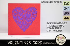 Love Card SVG - Love Valentine Heart SVG Cutting File Product Image 3