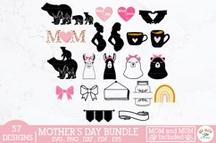 Mothers Day SVG bundle,mom svg,mum svg,mom quotes,mom bear Product Image 2