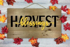 Harvest Blessings Cut File - SVG & PNG Product Image 1
