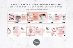 Instagram Post Carousel for Canva | Slideshow | Watercolor Product Image 5