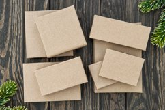 Christmas gift boxes craft paper zero waste wrapping Product Image 1