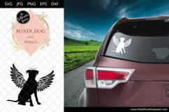 Boxer Dog #7 with Wings SVG, Pet Memorial, RIP Angel Product Image 2