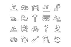 20 Construction Icons, colored and outline style Product Image 3