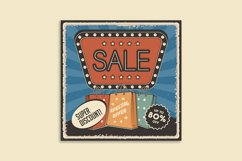 Retro Sale Discount Poster and Badge Product Image 4