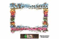 Leopard Grunge Background Frames for Dye Sublimation PNG Product Image 2