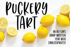 Puckery Tart - a tasty lettering font! Product Image 1