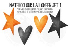 Watercolor Halloween Clip Art Set 1 Product Image 3