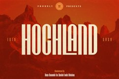 HOCHLAND URBAN-CONDENSED FONT Product Image 1