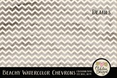 Beachy Watercolor Chevron Background Textures Product Image 5