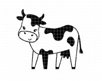 Funny cows clip art Product Image 7