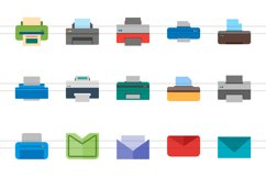 26 Email & Printer Flat Multicolor Icons Product Image 2