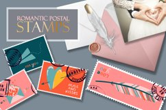 Postage stamps romantic for Valentine's Day BIG Product Image 6