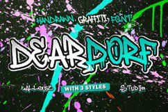 Web Font - Deardorf - Handdrawn Graffitti Font Product Image 1