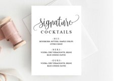Signature Cocktail Sign Wedding Product Image 1