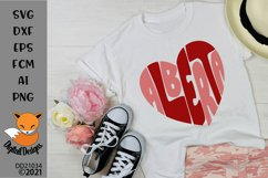 Alberta Canadian Province Heart Shaped Word Art Product Image 1