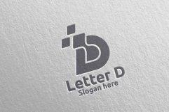 Digital Letter D Logo Design 2 Product Image 5