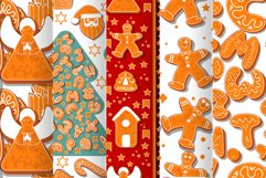 Vector set of 2 gingerbread alphabets. Christmas symbols. Product Image 5