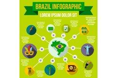 Brazil infographic elements, flat style Product Image 1