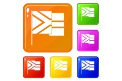 African flag icons set vector color Product Image 1
