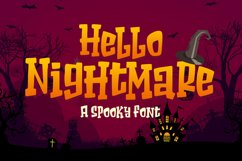 Hello Nightmare a Spooky Font Product Image 1