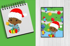BABY'S FIRST CHRISTMAS CLIPART - AFRICAN AMERICAN BABY Product Image 2