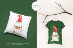 Watercolor Christmas Gnome clipart. PNG Sublimation design Product Image 3