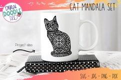 Mandala Cat SVG Set For Cricut & Silhouette Product Image 4