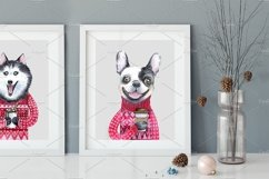 CHRISTMAS AND DOGS watercolor set Product Image 2