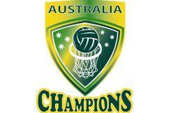 Netball Ball Hoop champions Australia shield Product Image 1