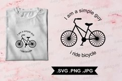 I Ride Bicycle svg- Cycle SVG cut file - Bike svg - Bicycle Product Image 1