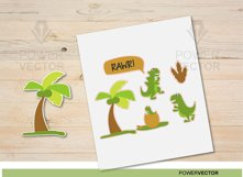 Funny Dinosaur Svg. Dinosaur Print and Cut File. Dinosaur Family Clip Art Product Image 2