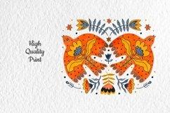 Folk Art Birds Compositions. Product Image 4