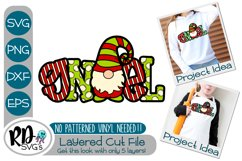 Gnoel Patterned Gnome - A Cricut Christmas Layered SVG Product Image 1