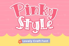 Pinky Style - Lovely Craft Font Product Image 1