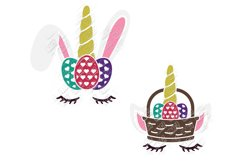 Unicorn Easter Bunny SVG in SVG, DXF, EPS, PNG, JPG Product Image 4