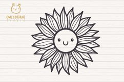 Cute Sunflower svg, Sunflower svg, Sunflower clipart Product Image 2